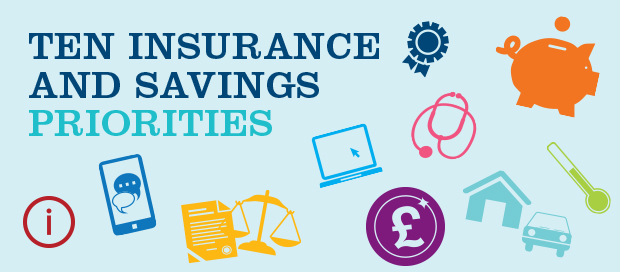 The ABI's top ten insurance and savings priorities