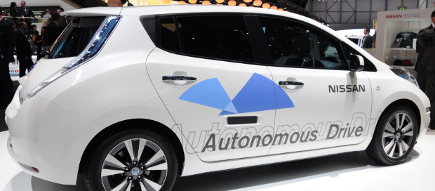 Autonomous Nissan vehicle