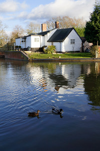 Flood risk - house by canal