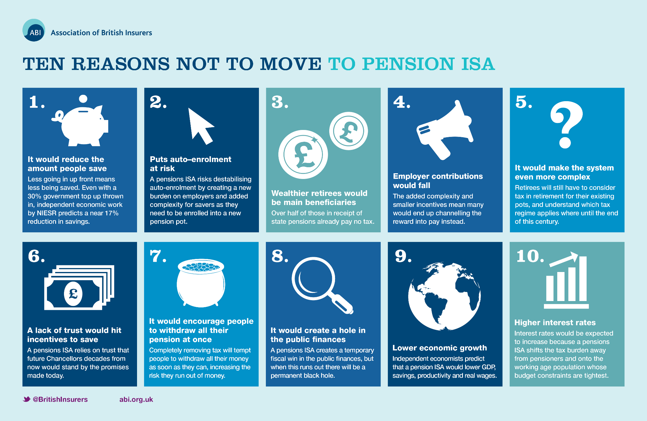 10 reasons not to move to Pension ISA